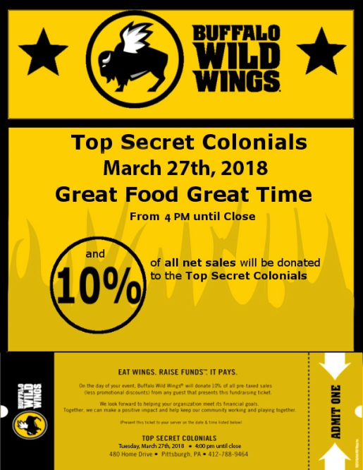 Buffalo Wild Wings Flyer March 2018
