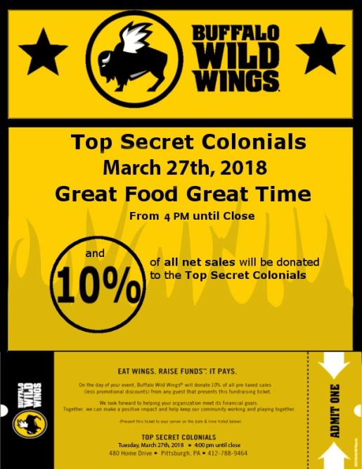 Buffalo Wild Wings Flyer March 2018