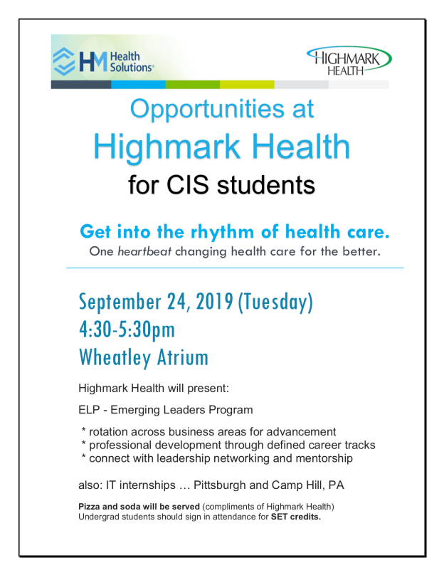 Highmark Health flier 2019-0924 updated